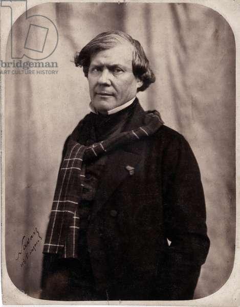Portrait of Paul Lacroix dit P.L. Jacob bibliophile (1806-1884). Photograph by Gaspard Felix Tournachon dit Felix Nadar (1820-1910), 1850. Dim: 18x23cm. Albumine print.