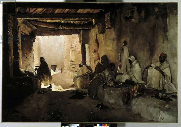 The butchers of the oasis of Chelma, Biskra, Algeria, 1889-1890 (oil on canvas)