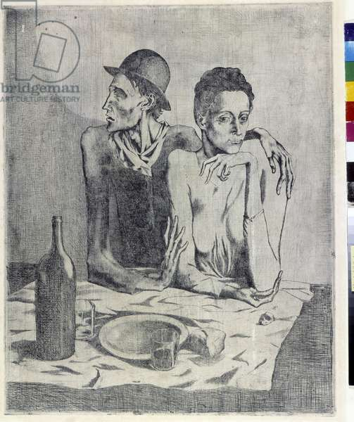 The frugal meal, 1904 (engraving)