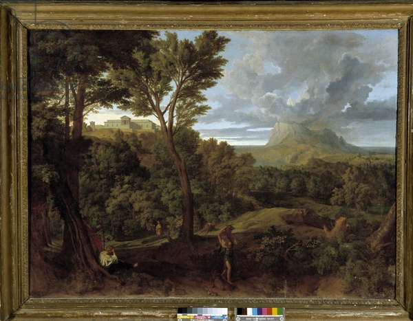 Landscape, 17th century (oil on canvas)