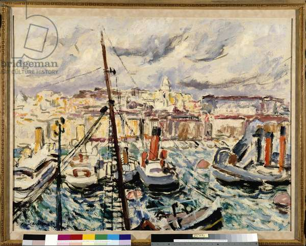 Tugs in the port of Marseille (painting)