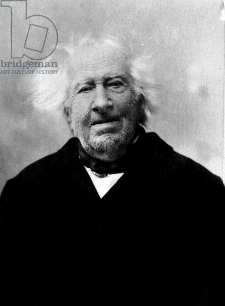 Portrait of Michel Eugene (Michel-Eugene) Chevreul (1786-1889), French chemist. Photography late 19th century.