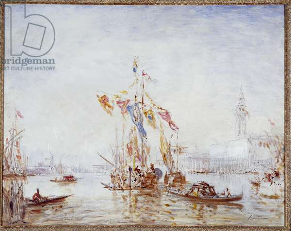 Feast of the Assumption in Venice Painting by Felix Ziem (1821-1911) 1880 approximately Fondation regards de Provence, Marseille