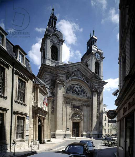 French architecture: view of the chapel of the Hotel-Dieu in Lyon. Architect: Jacques Germain Soufflot (1713-1780) 1741 - 1748
