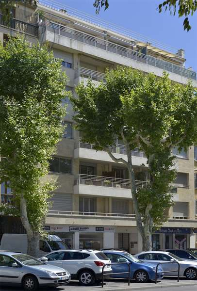 Facade of the Palais Albert I from 4 avenue des Belgians to Aix en Provence. Architect Fernand Pouillon (1912-1986) and Henri Enjouvin 1935 Attention! Use of this work may be subject to a third party authorization request or additional fees