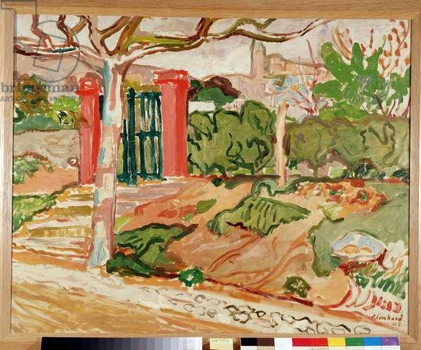 Le Portail du jardin d'Aix, 1908 (oil on canvas)