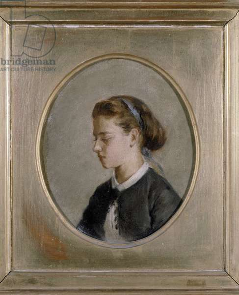 Portrait of a woman, 1870 (oil on canvas)