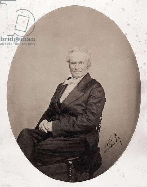 Portrait of Octave Lacroix (1827-1901), French journalist and poet. Photograph by Gaspard Felix Tournachon dit Felix Nadar (1820-1910), 1850. Dim: 19x25cm.