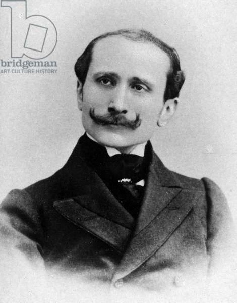 Portrait of Edmond Rostand (1868-1918), French playwright, poet and academician. Photography late 19th century.
