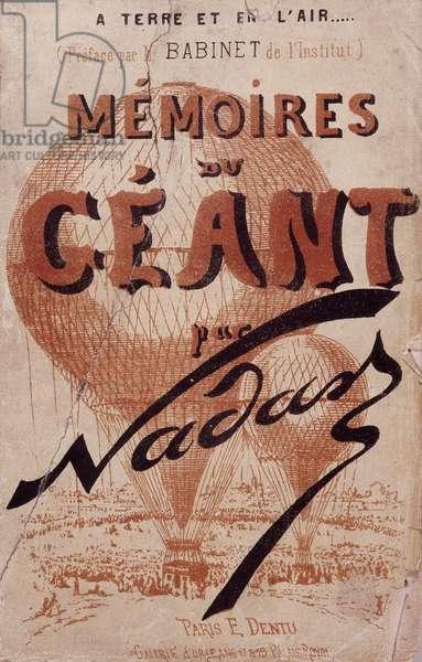 """Book """""""" A terre Et en l'air... Memoires du Gant"""""""" by Gaspard Felix Tournachon dit Felix Nadar (1820-1910) introduction M. Babinet de l'Institut, 1864. Dim: 18,5x12cm."""