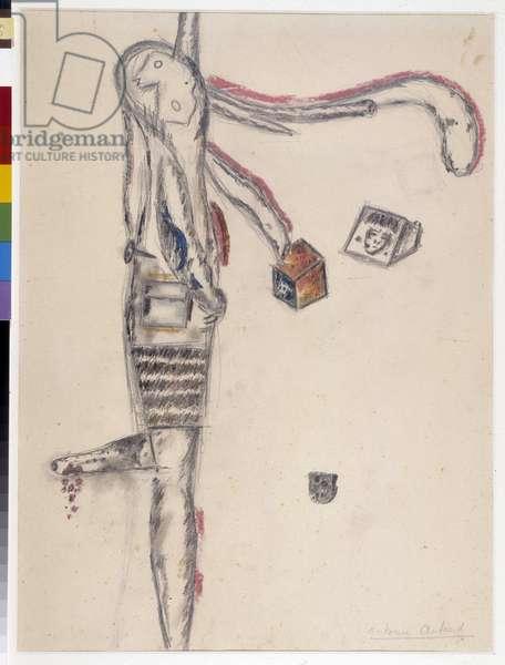 Drawing by Antonin Artaud (1896-1948). 1945 Dim cm 63X48 Musee Cantini, Marseille