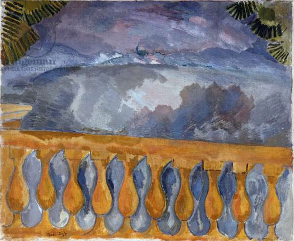 La terrasse a l'Estaque, 1908 (oil on canvas)