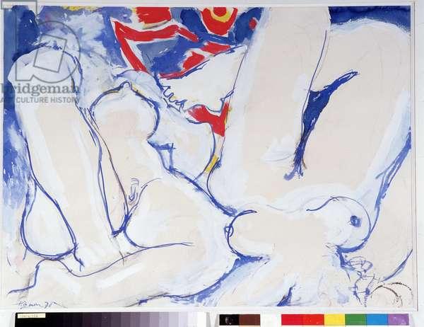 Nudes on the Beach, 1978 (oil on canvas)
