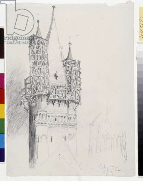 The belfry of Cologne (ink on paper)