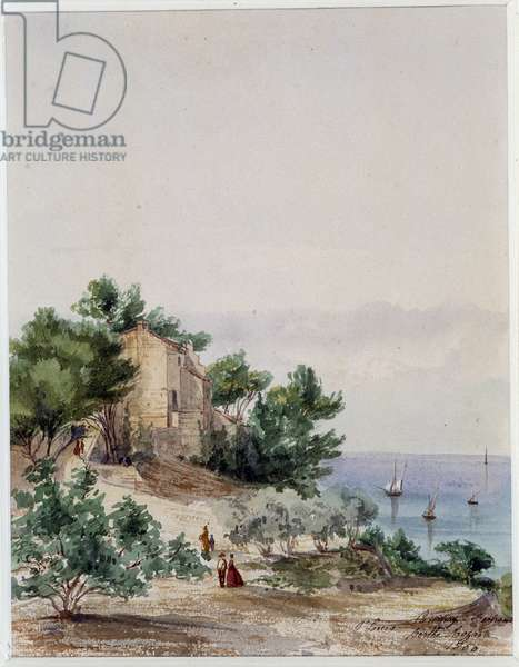 The Bertrand campaign in Saint Louis in the Bouches of the Rhone Watercolour by Berthe Rozand (19th century) 1860 Mandatory mention: Collection fondation regards de Provence, Marseille
