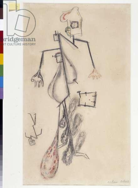 Man and his pain, 1946 (drawing)