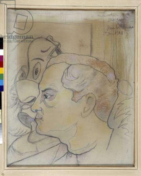Portrait of Georges Hugnet, 1945 (pastel on canvas)