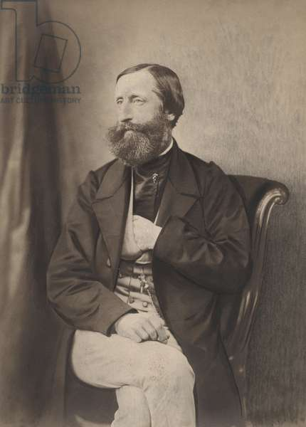 Charles Sainte-Claire Delville, French geologist and meterologist (1814-1876) 39 boulevard des Capucines Paris in 1860 (b/w photo)