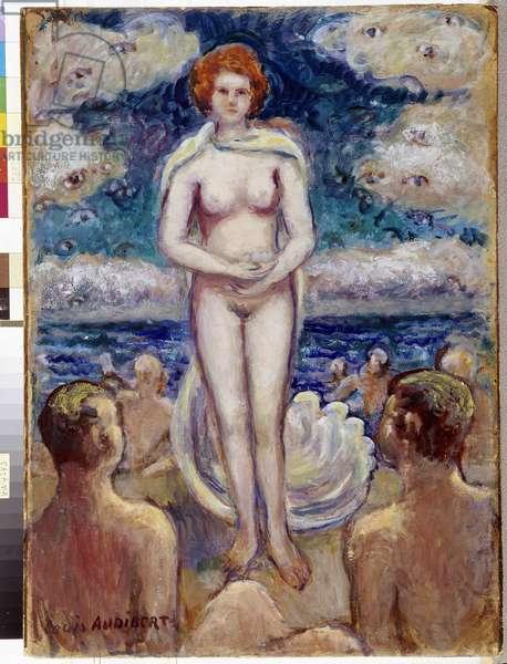 The birth of Venus Painting by Louis Audibert (1881-1984), al. P. Dumon. Mandatory mention: Collection fondation regards de Provence, Marseille