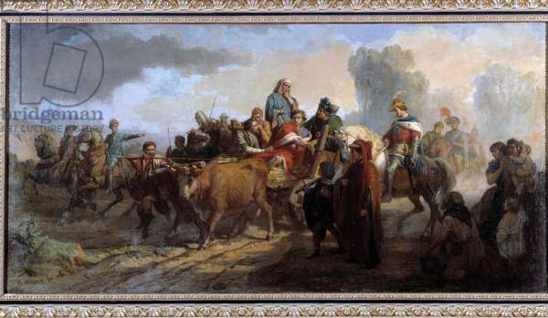 The madness of Charles VI (1368-1422). Painting by Antoine Dominique Magaud (1817-1899) Oil on canvas cm 111x221 Collection P. Dumon obligatory mention: Collection fondation regards de provence Marseille