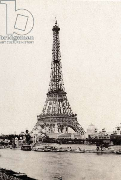 "The Eiffel Tower in """" Work Paris-Instantee """", album of photographs in Heliotypie circa 1890 - A. Lenegre E Cie publishers - Private collection"