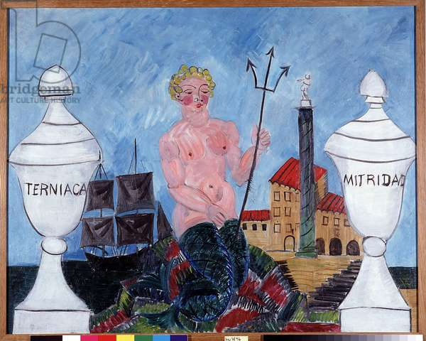 Sirene au trident, 1925 (oil on canvas)