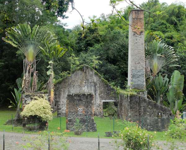 Trois Ilets, Domaine de la Pagerie, ruins of the sugar factory - Martinique, island of the French Antilles