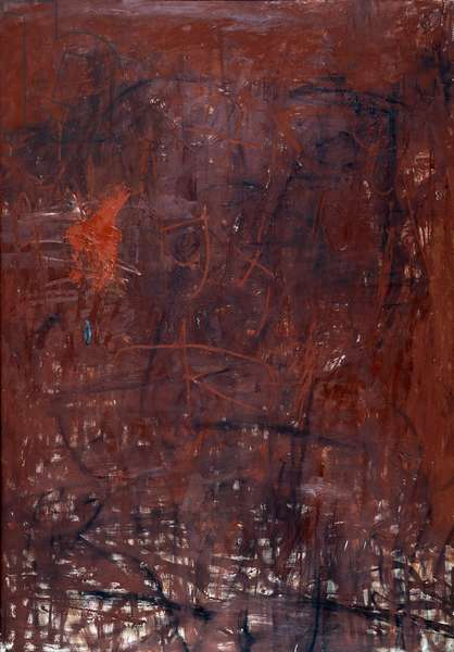 Painting. Painting by Jiro YOSHIHARA (1905-1972), 1958 (oil on canvas)