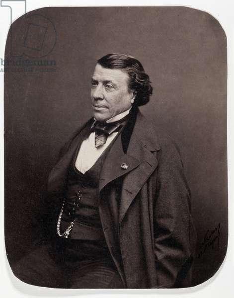 Portrait of the French surgeon Philippe Ricord (1800-1889). Photograph by Gaspard Felix Tournachon dit Felix Nadar (1820-1910), 1850. Dim: 18,5x23,5cm. Albumine print.