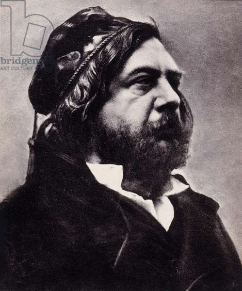 Portrait of Theophile Gautier (1811-1872), French poet and writer. Photograph by Gaspard Felix Tournachon dit Felix Nadar (1820-1910), undated. Galetino-bromide print. Dim: 19,5x23,5cm.