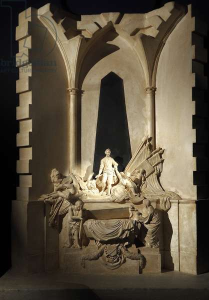 Plaster model of the tomb of the Marechal of Saxony by Jean Baptiste Pigalle. 1745. Historical Museum, Strasbourg
