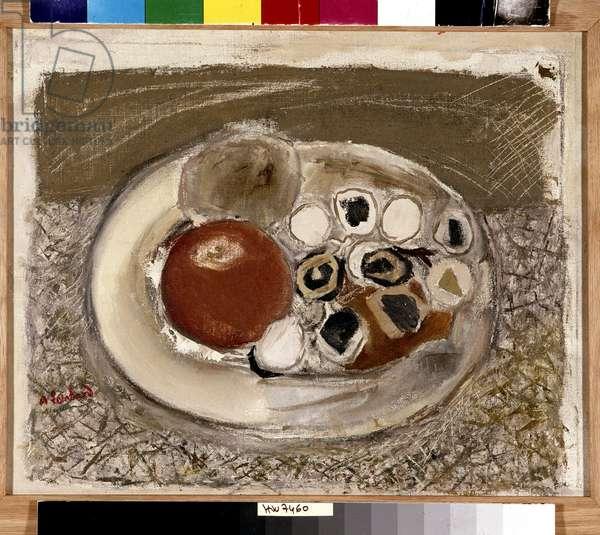 L'assiette aux pommes (oil on canvas)