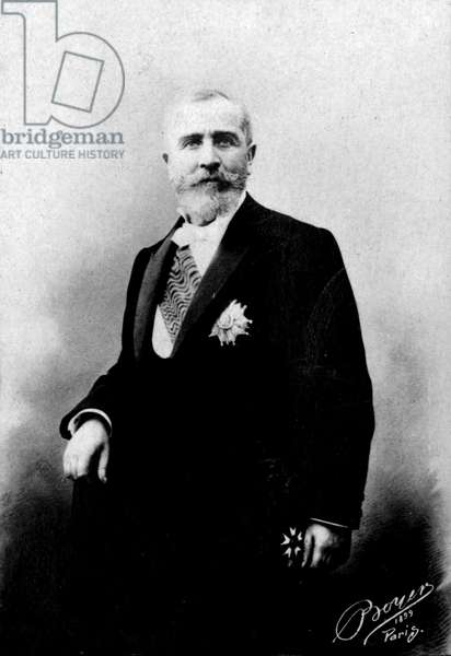 Portrait of Emile Loubet (1836-1929), President of the French Republic. Photography late 19th century.