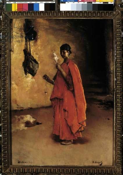 The spinner (Biskra). Algeria (oil on canvas)