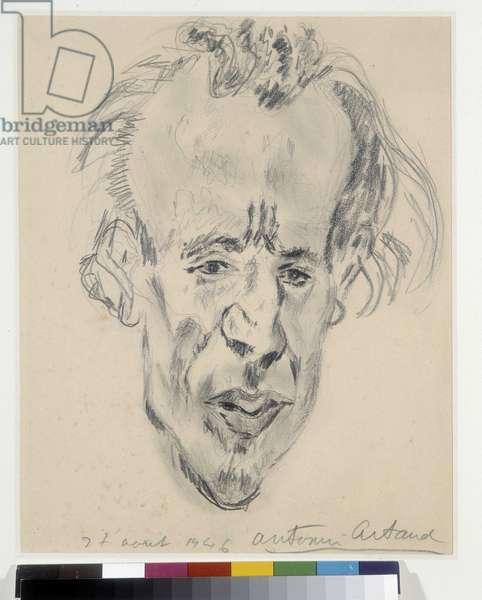 Portrait of Jacques Prevel (1915-1951) on 27/08/1946