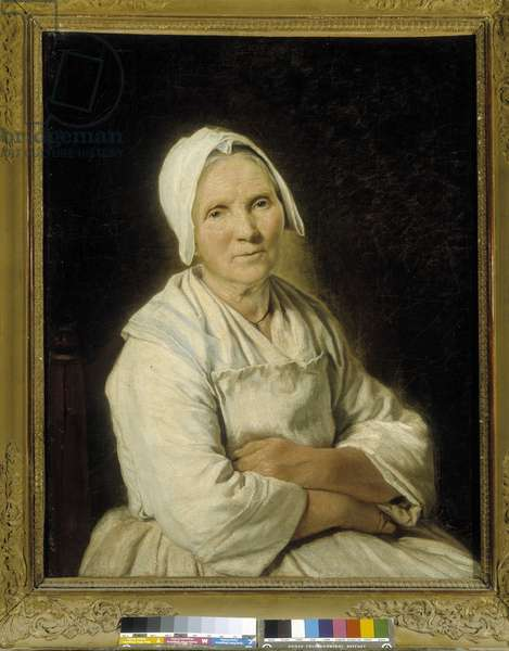 The old one. Oil on canvas by Francoise Duparc (1726-1778), French school of the 18th century. Musee des Beaux Arts - Palais Longchamp, Marseille.