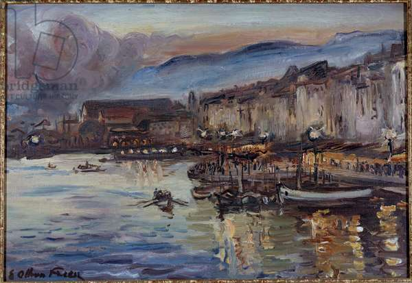 View of the Port of Toulon 20th century (oil on canvas)