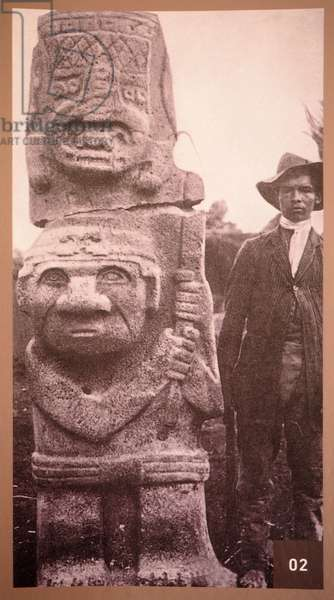 Archeological Park, Religious Monuments, Megalithes sculptures, Divinites and animals, San Augustine, Colombia (photo)