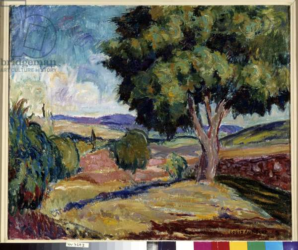 Landscape of Provence Painting by Louis Audibert (1881-1984) 20th century Mandatory mention: Collection foundation regards of Provence, Marseille