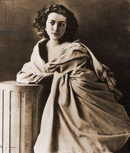 Portrait of Henriette Rosine Bernard dit Sarah Bernhardt (1844-1923), actress 1844-1923. Photograph by Nadar (Felix Tournachon).