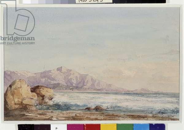 The Corniche seen from Montredon near Marseille. Watercolour by Berthe Rozan (19th century) 1862 Mandatory mention: Collection fondation regards de Provence, Marseille