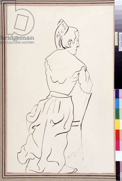 L'arlesienne de dos (ink on paper)