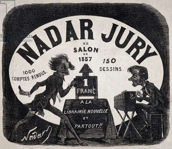 "Album """" Nadar jury au salon de 1857"""" (Gaspard Felix Tournachon dit Felix Nadar (1820-1910). 1000 minutes, 150 drawings. New bookstore and everywhere, 1857. Dim: 18x22,5cm."