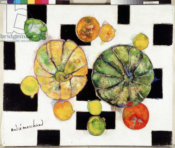 Silent life, the two melons, 1970 (painting)