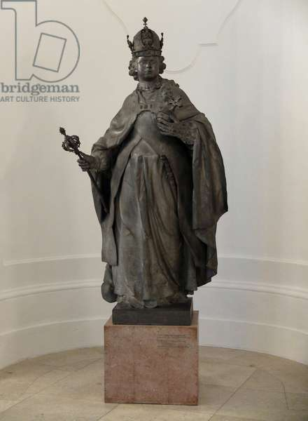 Portrait of the Emperor Francois I (1708-1765) (Franz I Stephan) of the Holy Empire (Holy Empire), Roman Emperor and Grand Duke of Tuscany - Sculpture by Franz Xavier Messerschmidt (1736-1783) 1764-1765 Palace of the Belvedere Vienna Austria
