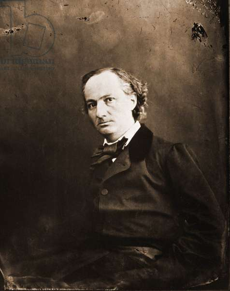 Portrait of Charles Baudelaire, writer 1821-1867. Photograph of Nadar (Felix Tournachon).