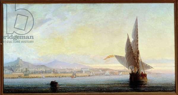 La baie de Marseille Painting by Paul Louis Bouillon Landais (1825-1903) Mandatory mention: Collection foundation regards de Provence, Marseille