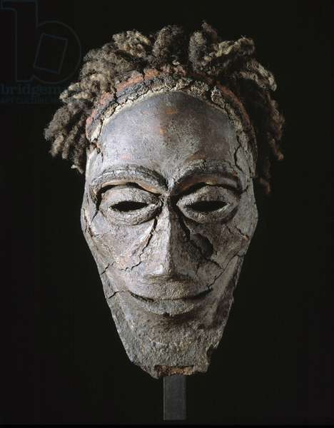 Primitive art: terracotta head. Anonymous. Museum of African, Oceanian and Amerindian Arts, Marseille.