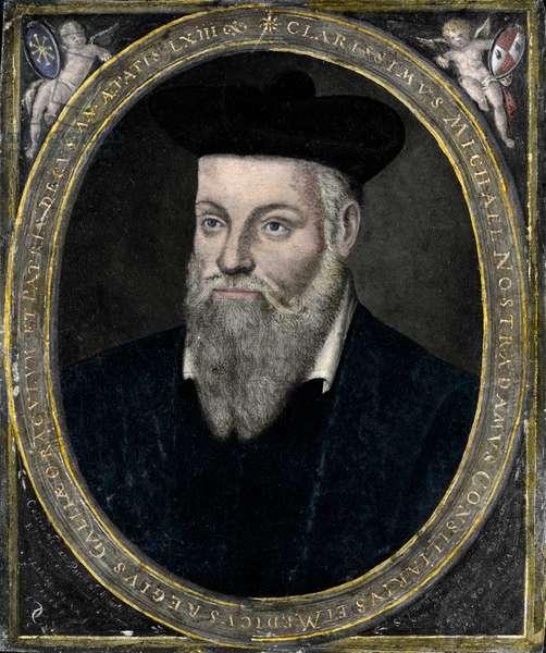 Portrait of Nostradamus (Michael de Nostre-Dame, 1503-1566), doctor and astrologer francais