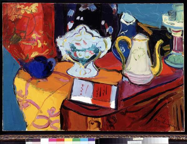 Still life in the chest of drawers, c.1950 (painting)